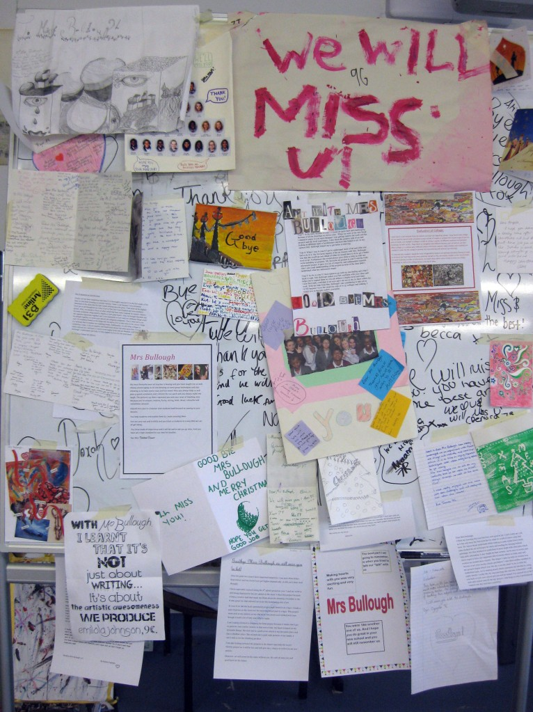 Good luck notes for Mrs Bullough